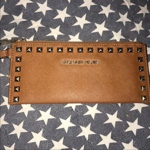 Michael Kors Studded Leather Wristlet
